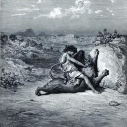 SAMSON SLAYING THE LION