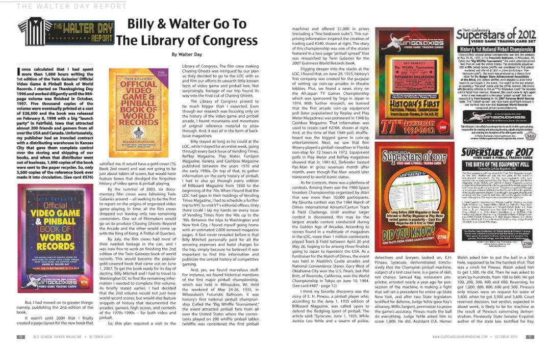 Billy & Walter Go To The Library of Congress By Walter Day