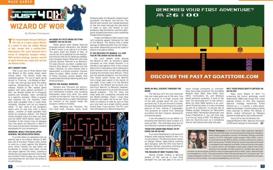 Just 4 Qix: Wizard of Wor – By Michael Thomasson