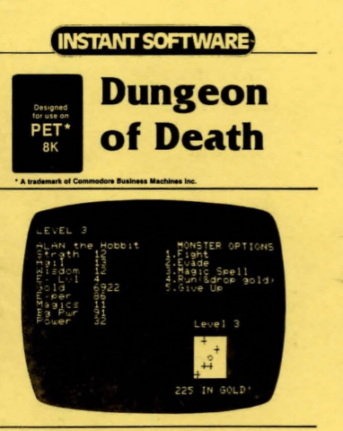 Dungeon of Death: An RPG For The Commodore PET