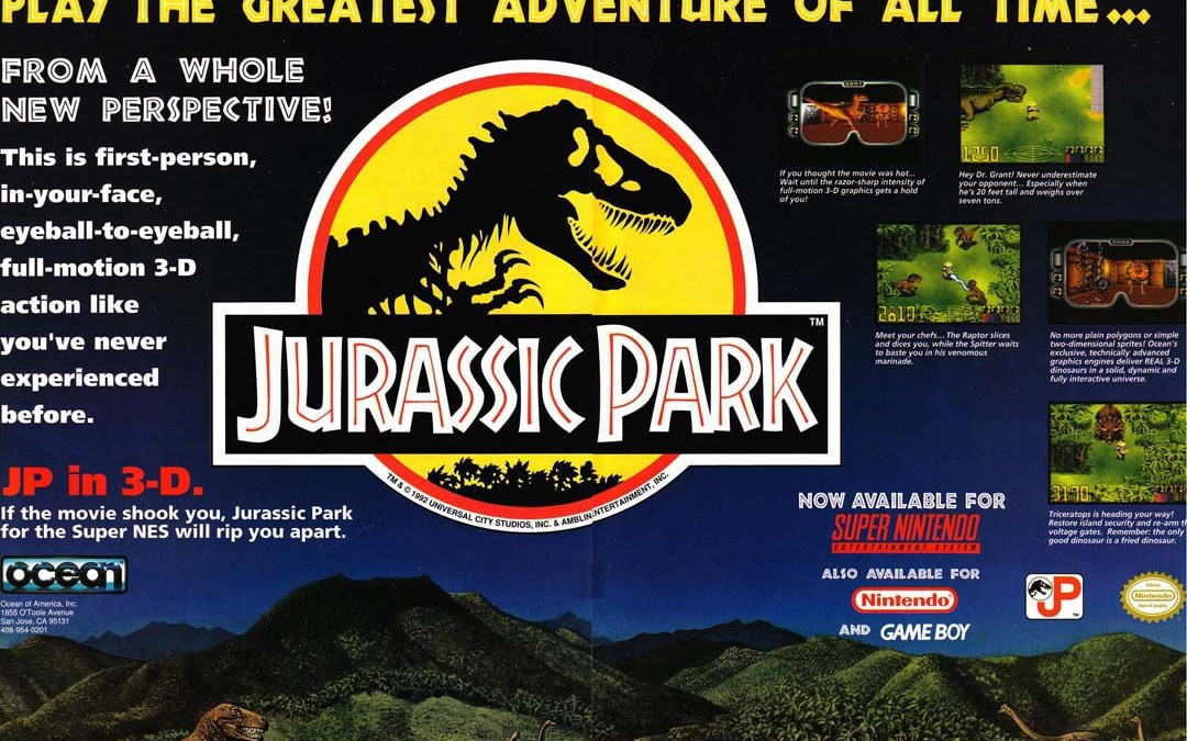 Great Games That Will (Probably) Never Be Released Again: Jurassic Park by Ocean