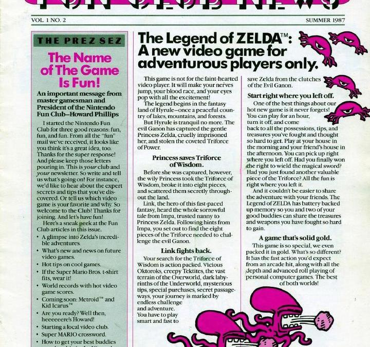 Retro Gaming Archives – Nintendo Edition: July/August 1987