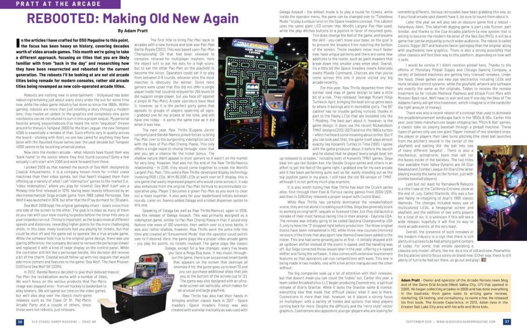 Pratt at the Arcade:  Rebooted: Making Old New Again – By Adam Pratt