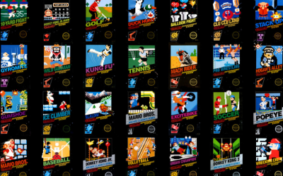 Early NES (Nintendo) Box Art Pt 1 – Black Box Titles