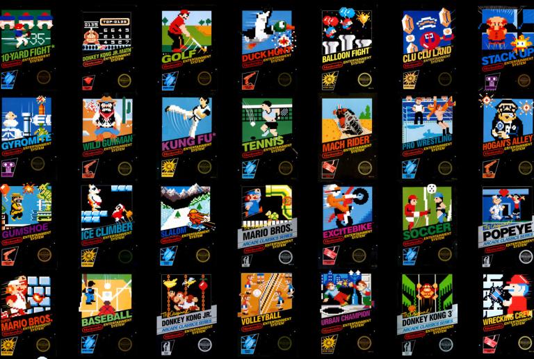 Early NES (Nintendo) Box Art Pt 1 – Black Box Titles