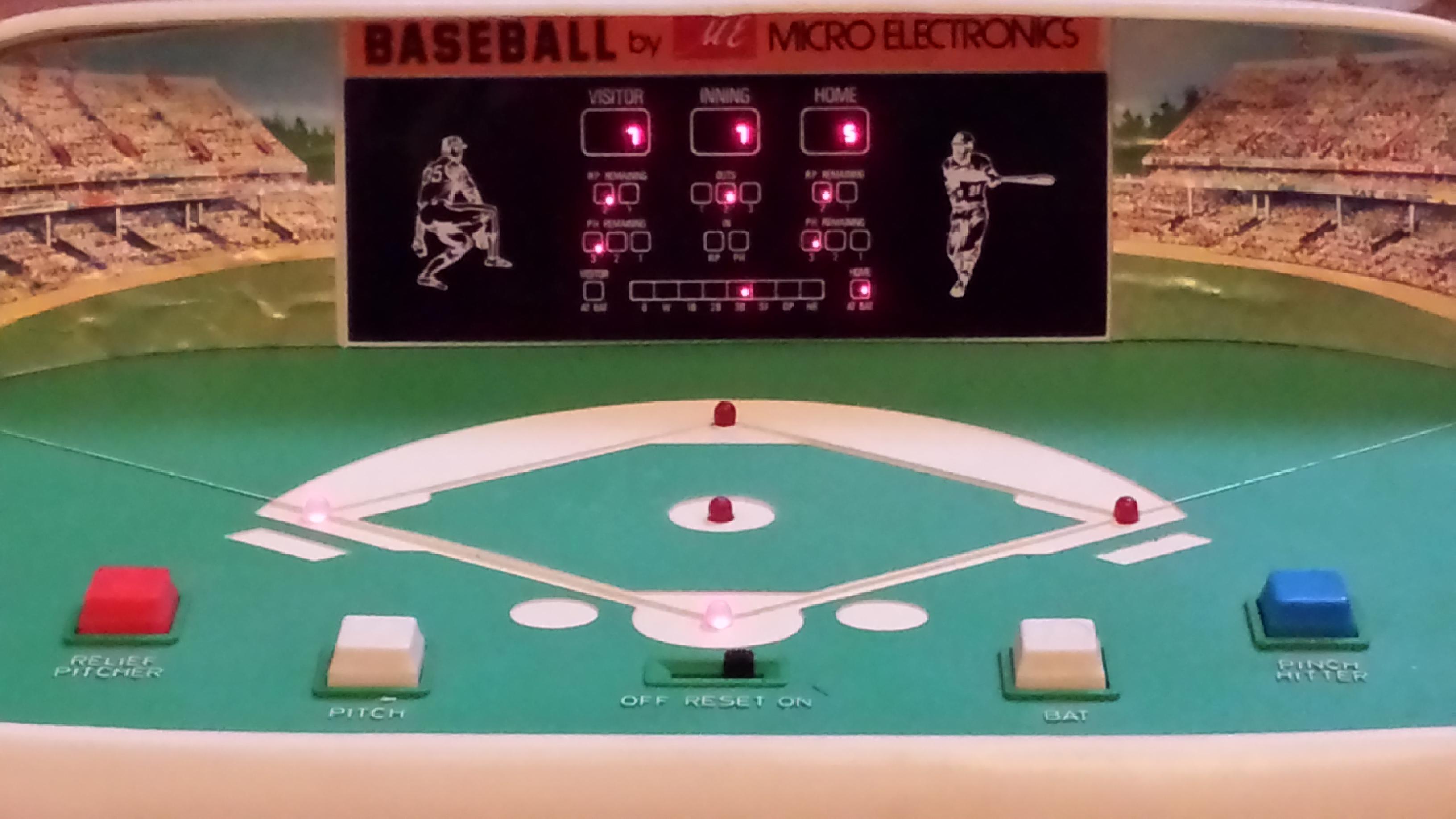 Old Electronic Baseball Game Stadium Www Sham Store