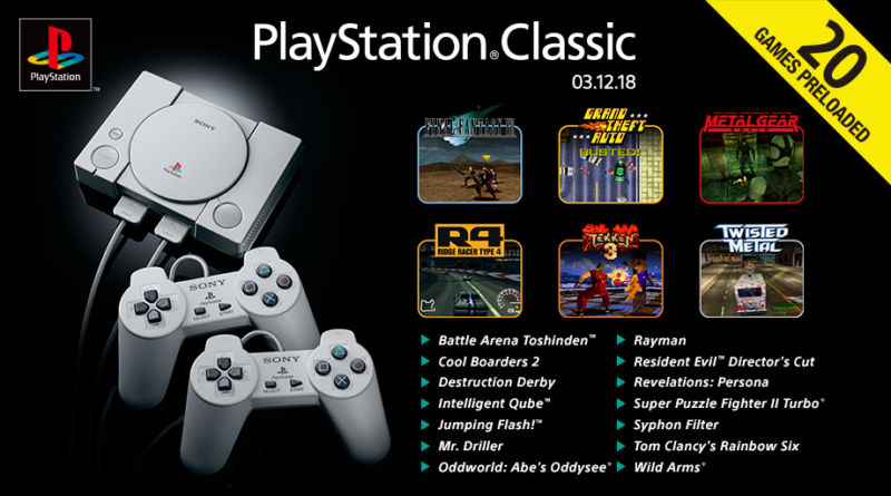 PlayStation Classic Full Game Lineup Announced