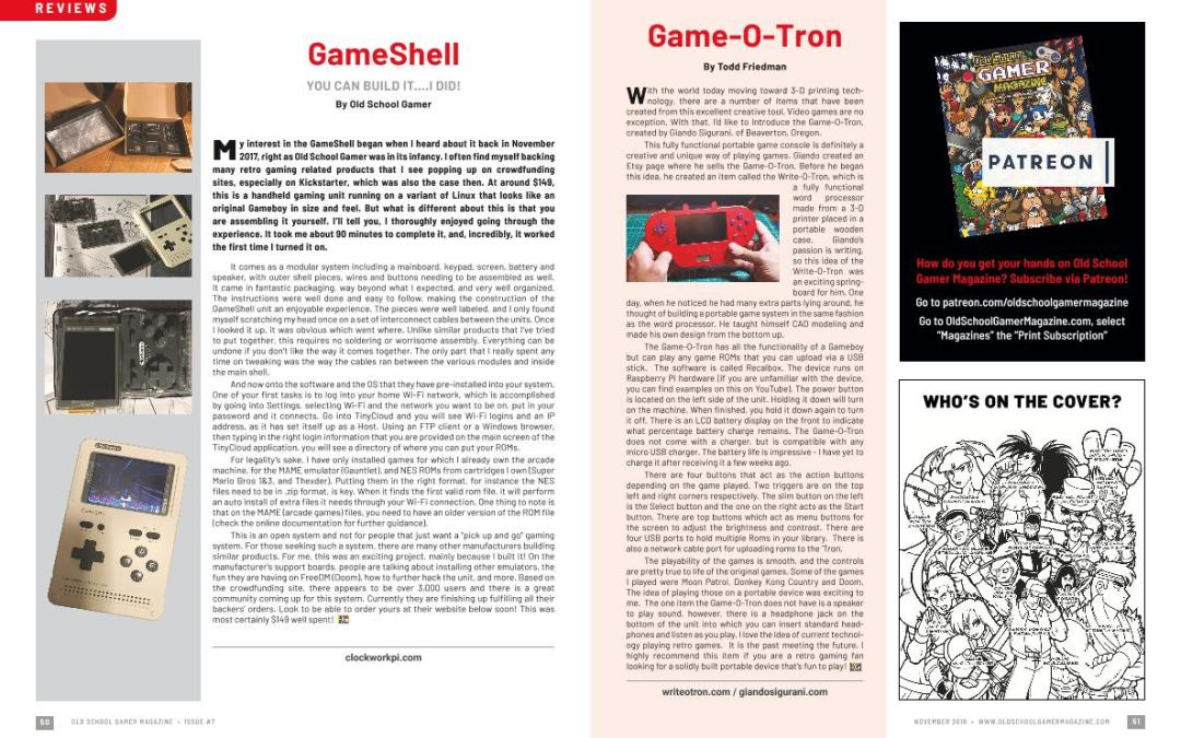 GameShell – You Can Build It….I Did! – By Old School Gamer