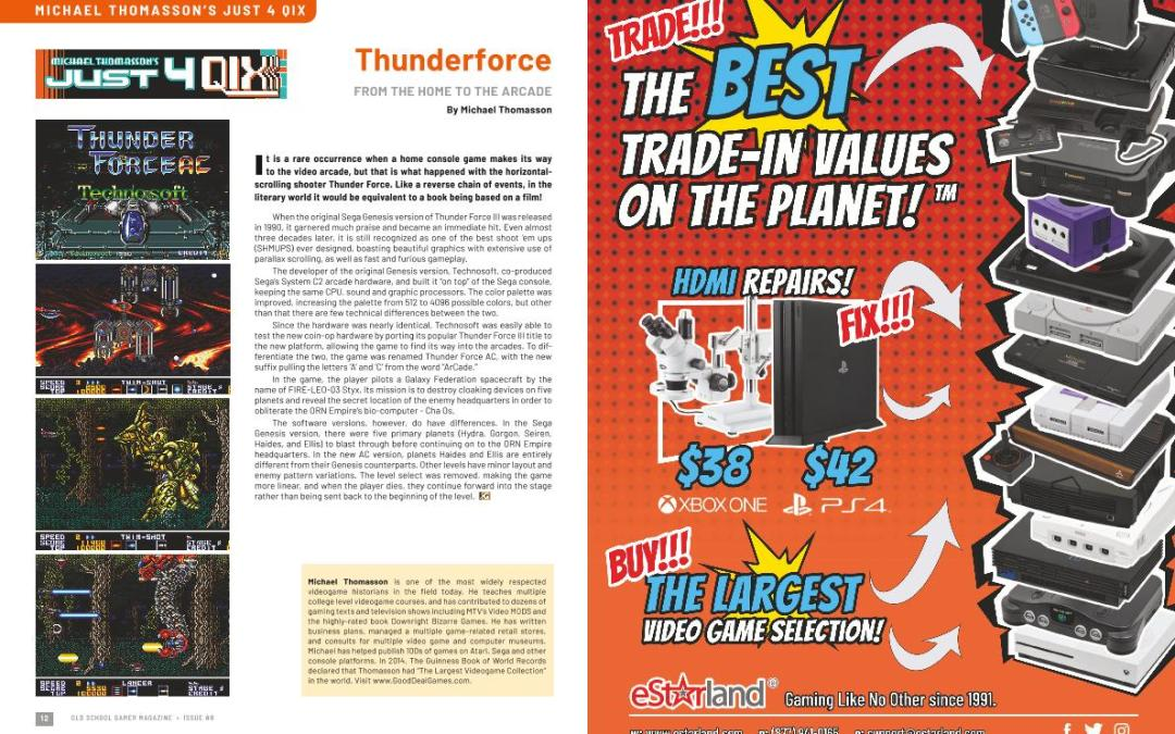 Just for Qix: Thunderforce – From the Home to the Arcade – By Michael Thomasson