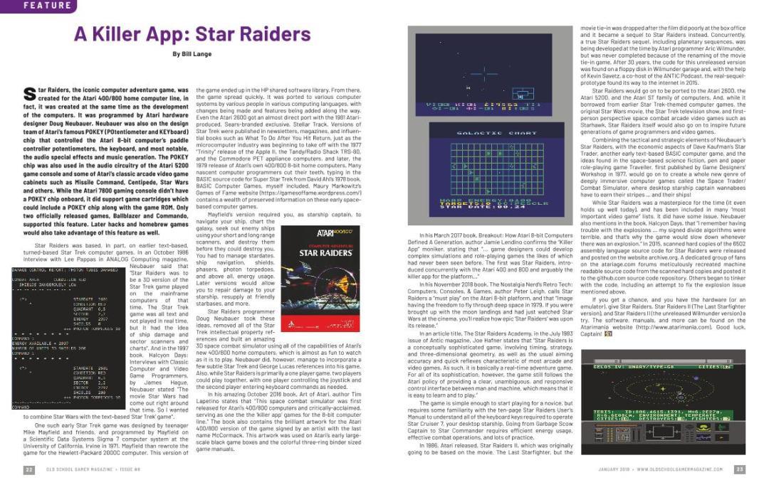 A Killer App: Star Raiders – By Bill Lange