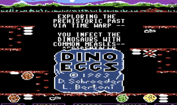 Dino Eggs for the Commodore 64