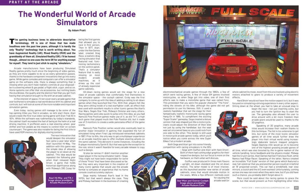 The Wonderful World of Arcade Simulators – By Adam Pratt