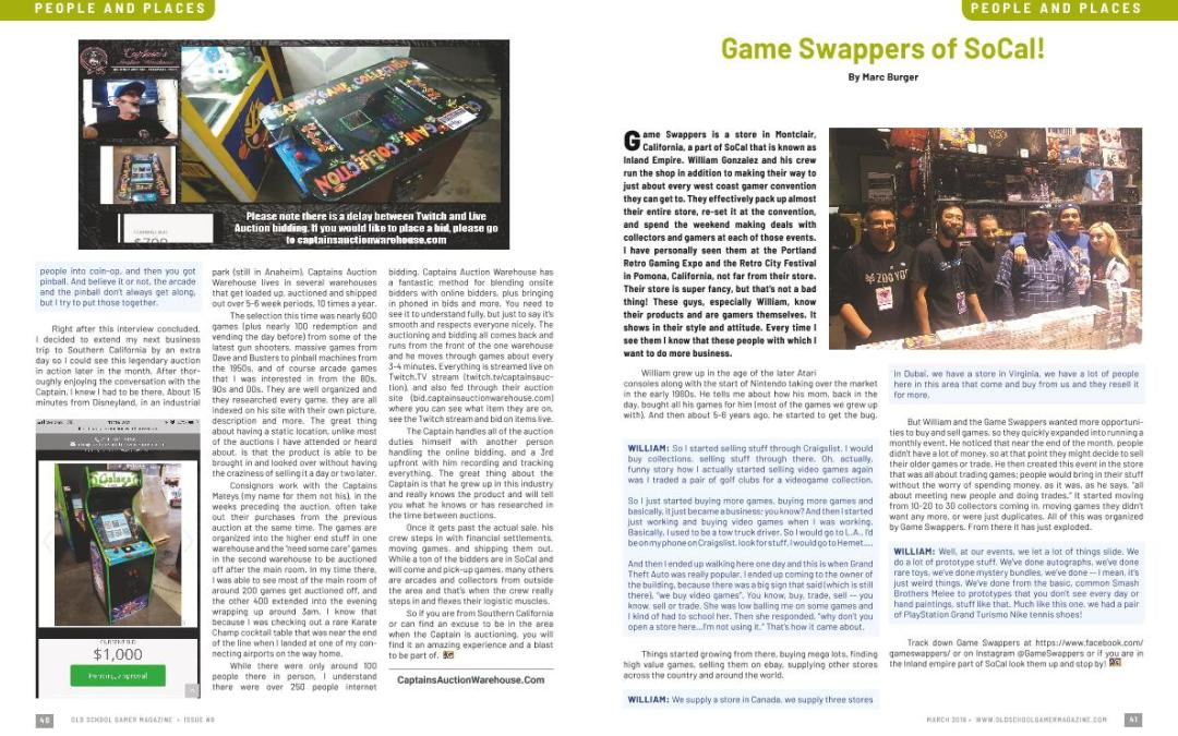 Game Swappers of So Cal! – By Marc Burger