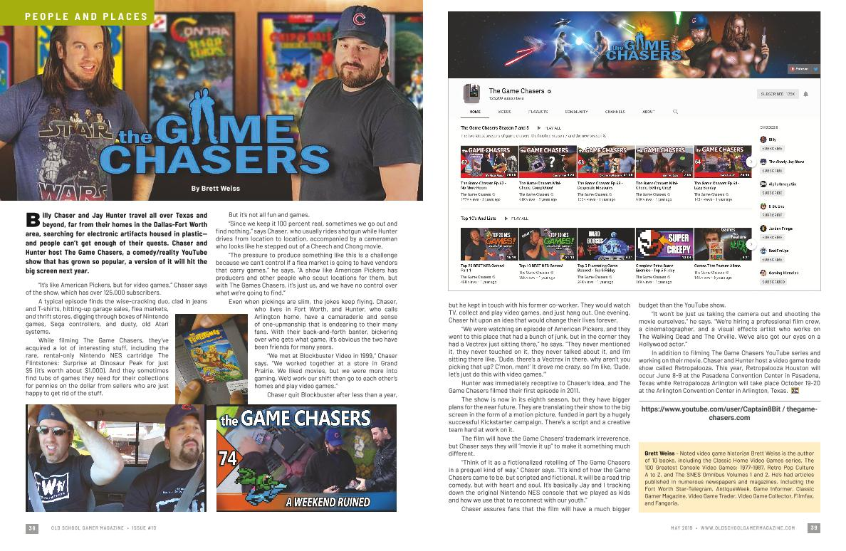 the Game Chasers – By Brett Weiss   Old School Gamer Magazine