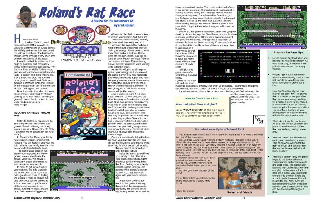 Roland's Rat Race By Fred Pierson