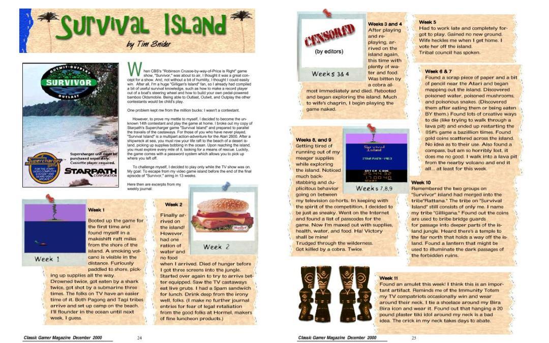 Survivor Island By Tim Snyder