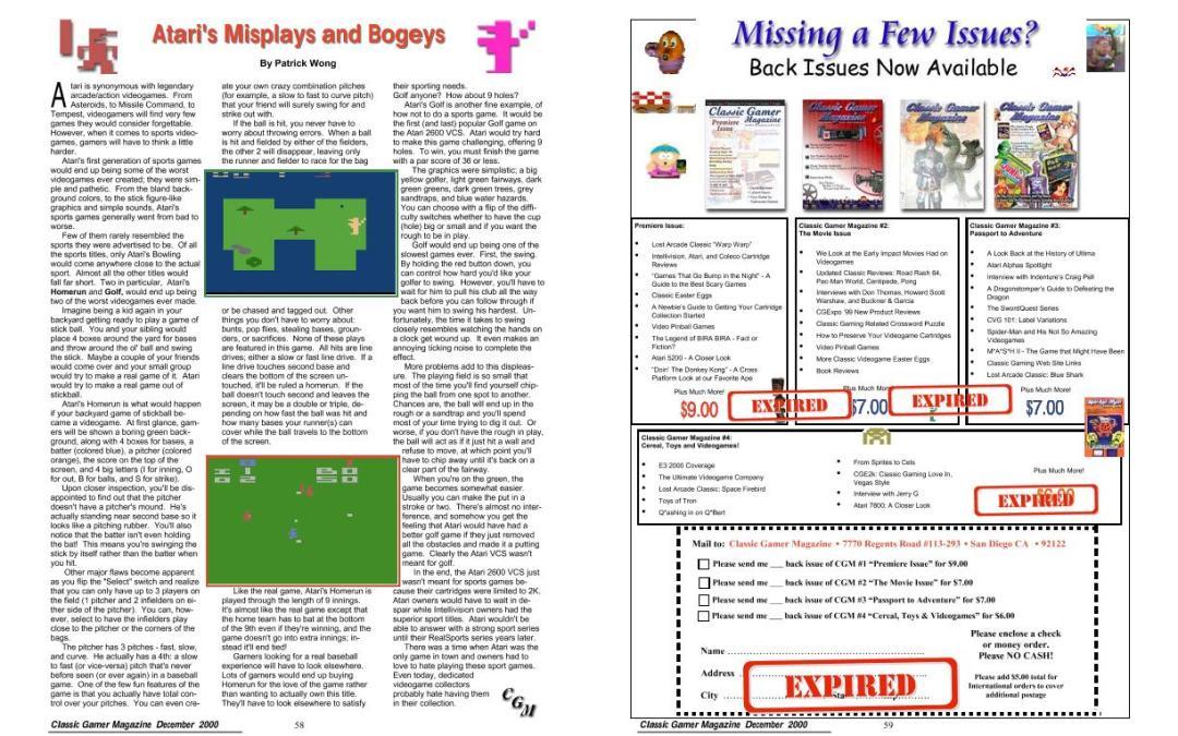 Atari's Misplays and Bogeys By Patrick Wong