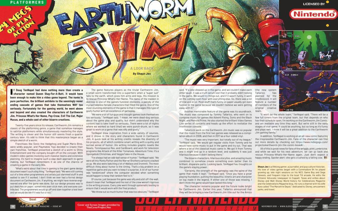 Earthworm Jim – A Look Back – By Shaun Sex