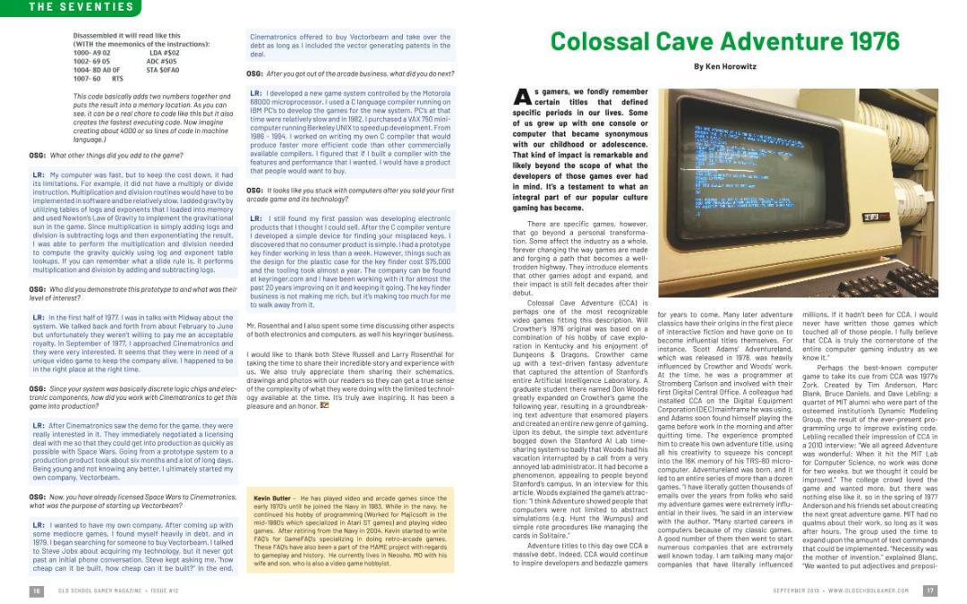 Colossal Cave Adventure 1976 – By Ken Horowitz