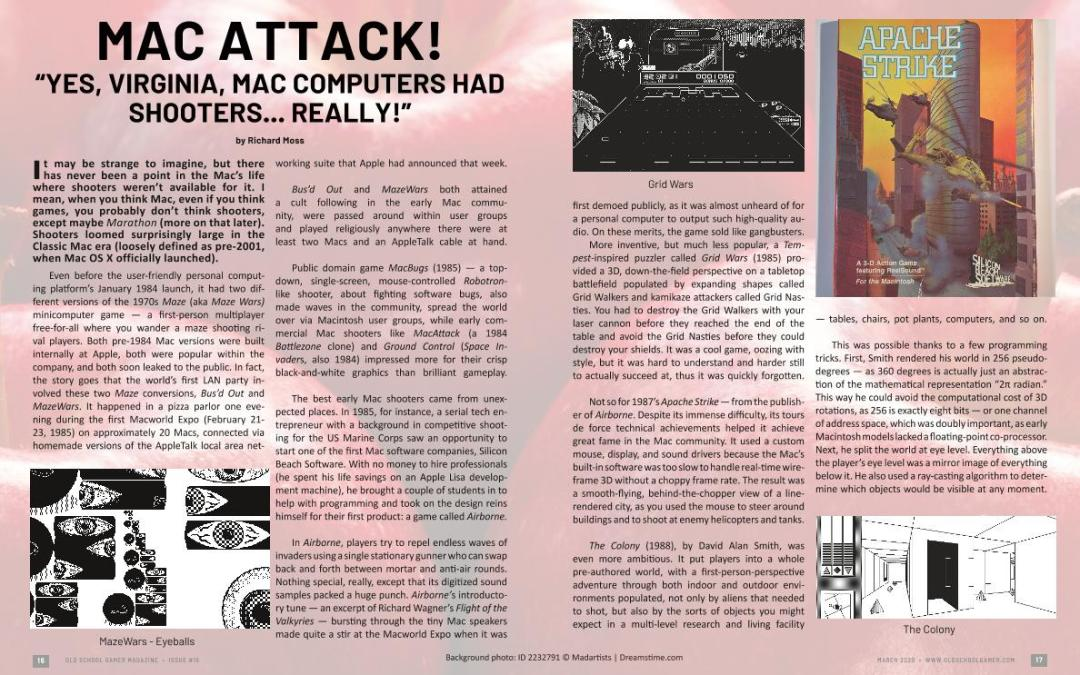 "Mac Attack! – Yes, Virginia, Mac Computers Had Shooters… Really!"" – By Richard Moss"