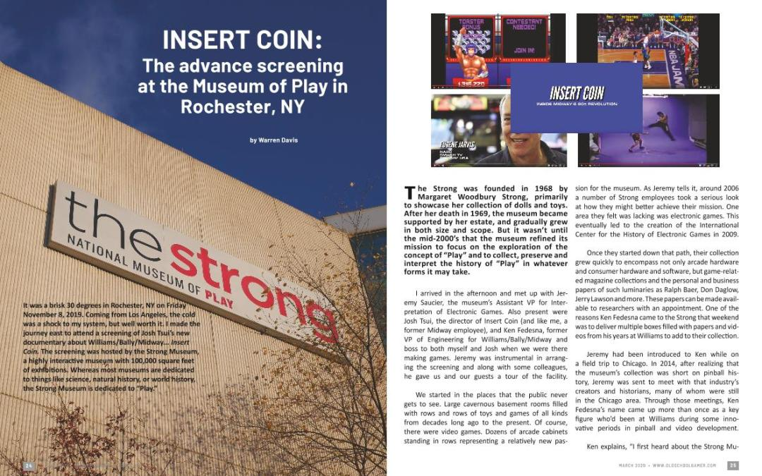 NSERT COIN: The advance screening at the Museum of Play in Rochester, NY – by Warren Davis