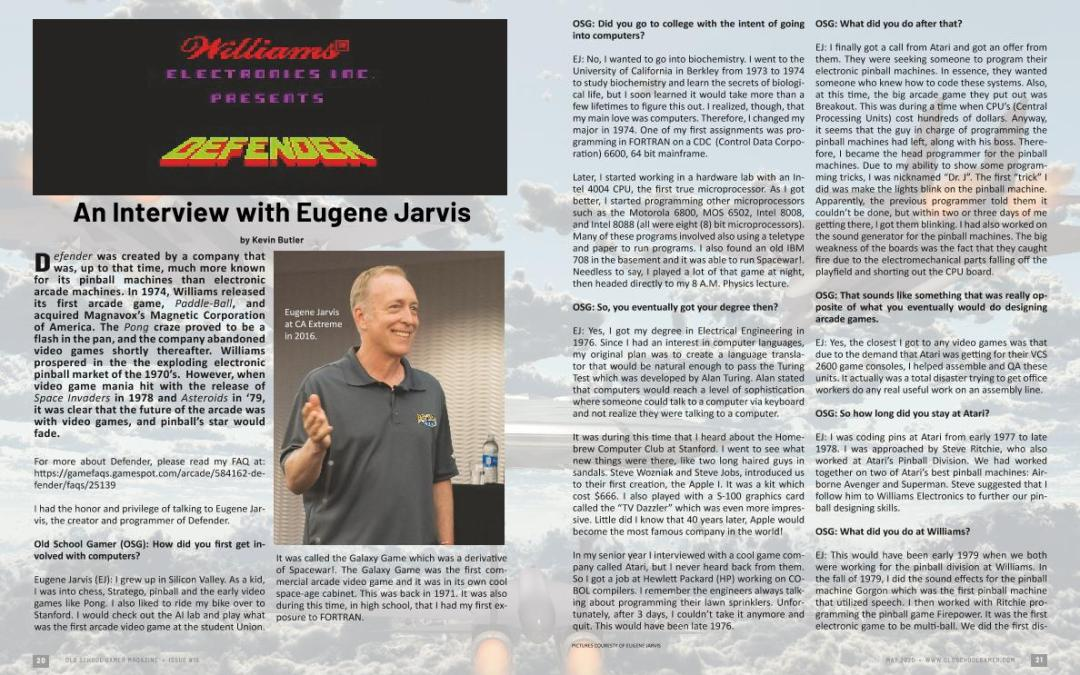 An Interview with Eugene Jarvis – By Kevin Butler