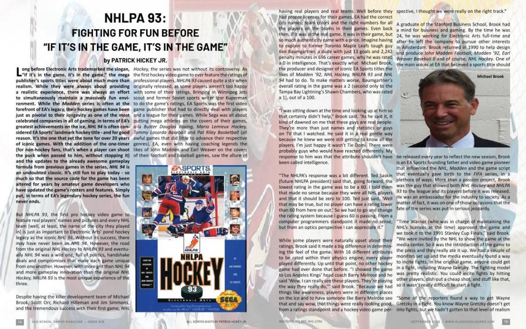 NHLPA 93: Fighting For Fun