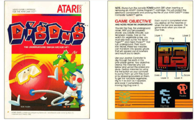 Atari 2600 Encyclopedia: Do you know Dig Dug?