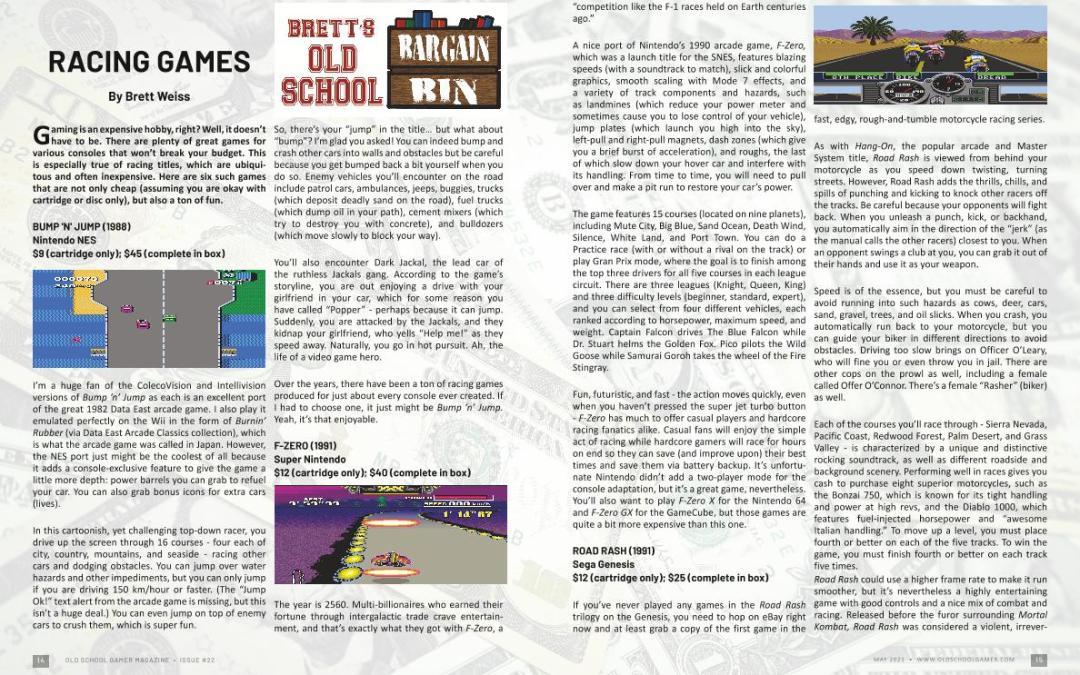 Racing Games – by Brett Weiss