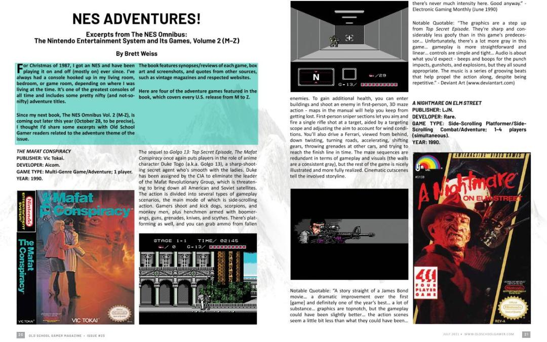 Excerpts from the NES Omnibus – by Brett Weiss