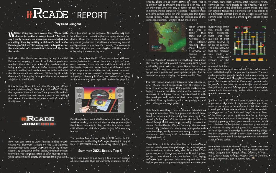 iiRcade Report by Brad Feingold