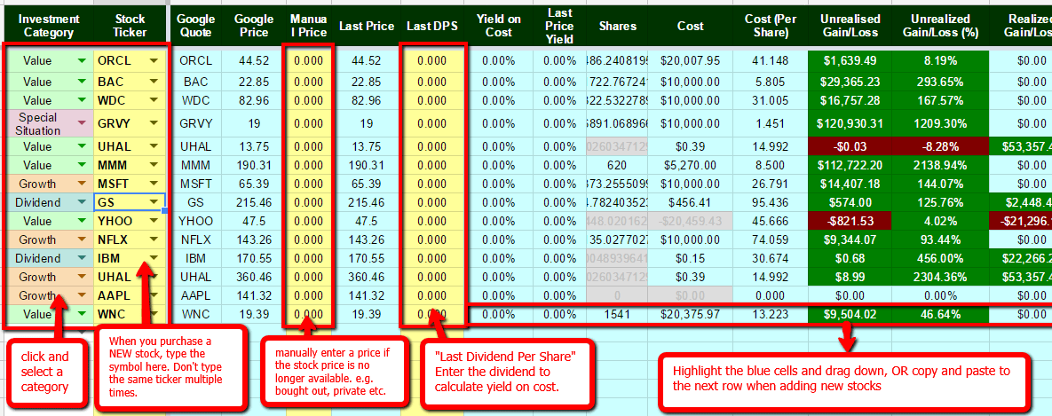 While we may not all be. The Best Free Stock Portfolio Tracking Spreadsheet