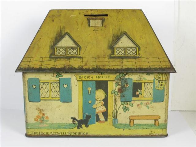 Old Shop Stuff Old Crawford Biscuit Tin Money Box In The