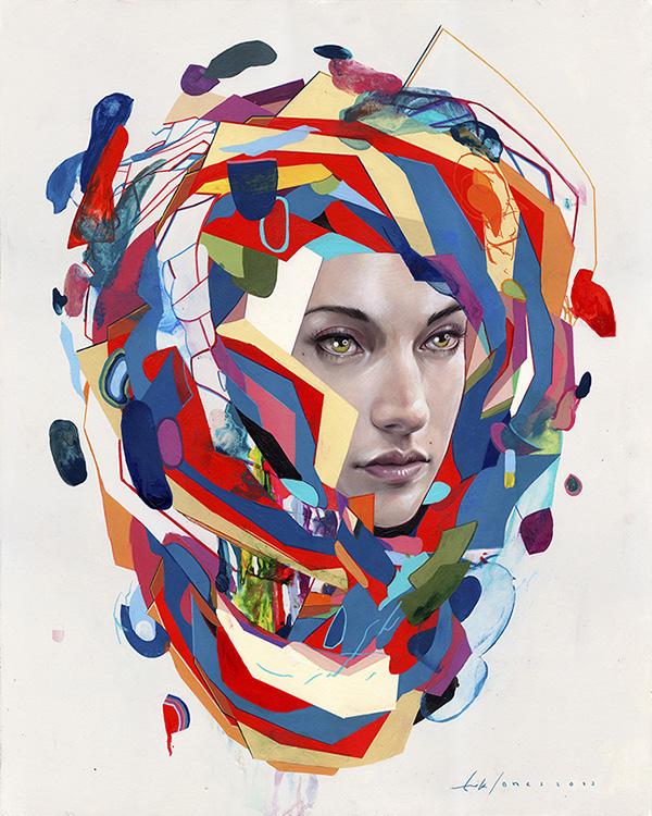 Los coloridos retratos de Erik Jones