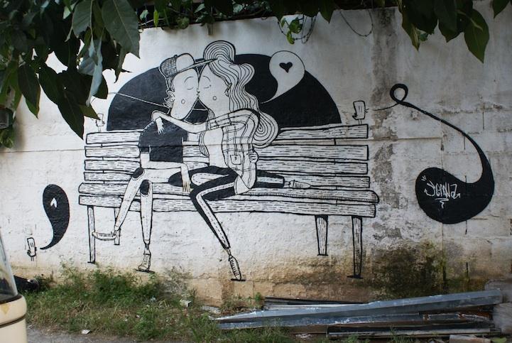 Graffiti y street art con amor
