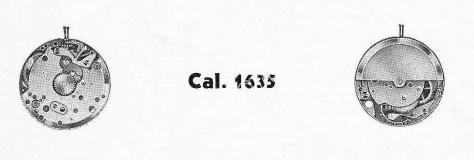 A Schild AS 1635 watch movement