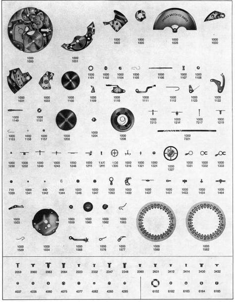 Omega 1002 watch parts