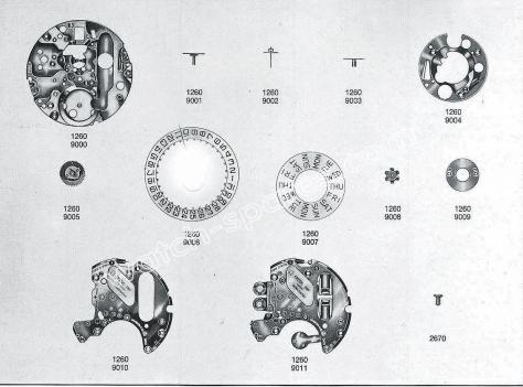 Omega 1260 watch date parts