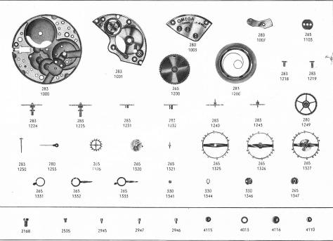 Omega 283 watch part