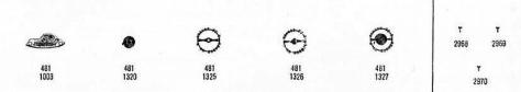 Omega 481 watch spare parts