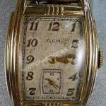 ELGIN WATCH VINTAGE RECTANGULAR TONNEAU CASE