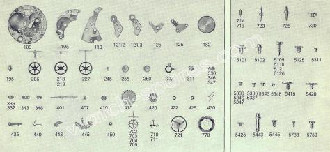 FHF Font 641 watch spare parts