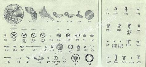 FHF Font 811 watch spare parts