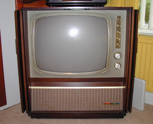 An old TV sampled from the Internet