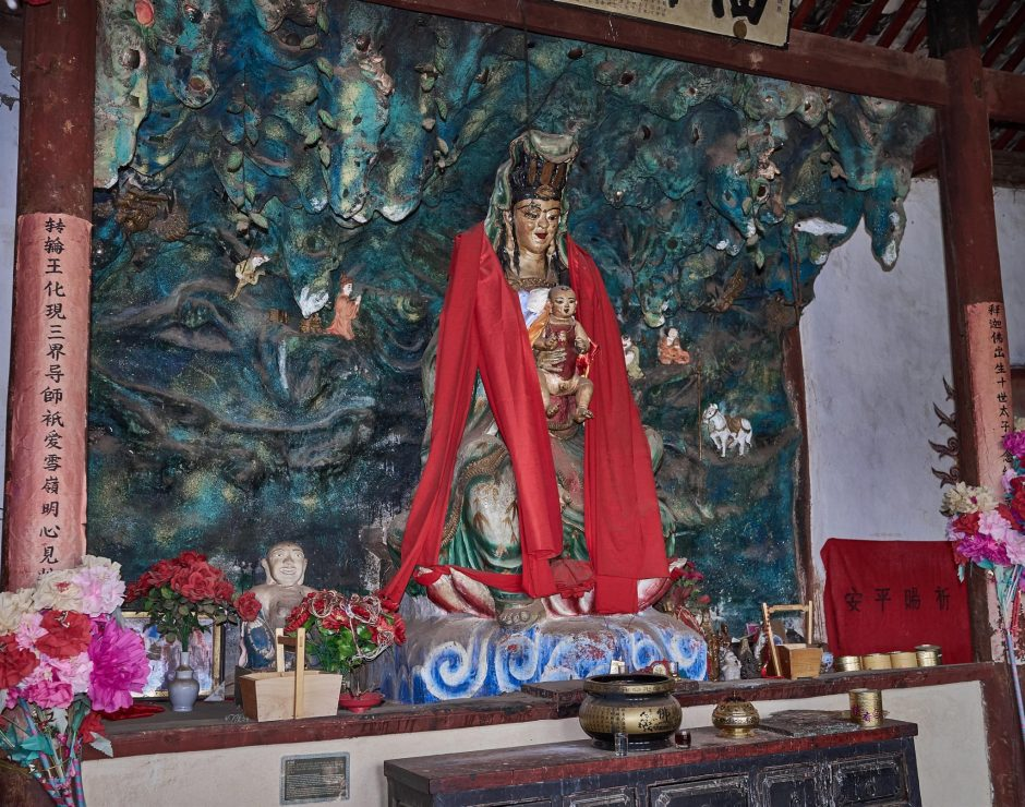 Goddess of Mercy Who Brings Children - Shaxi Pear Orchard Temple - Yunnan China