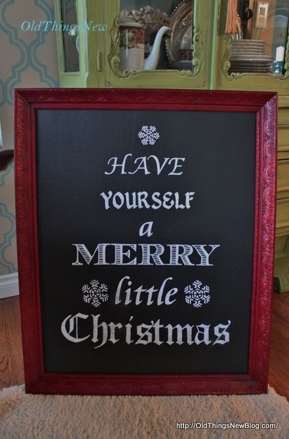 2-Have Yourself A Merry Little Christmas sign 002