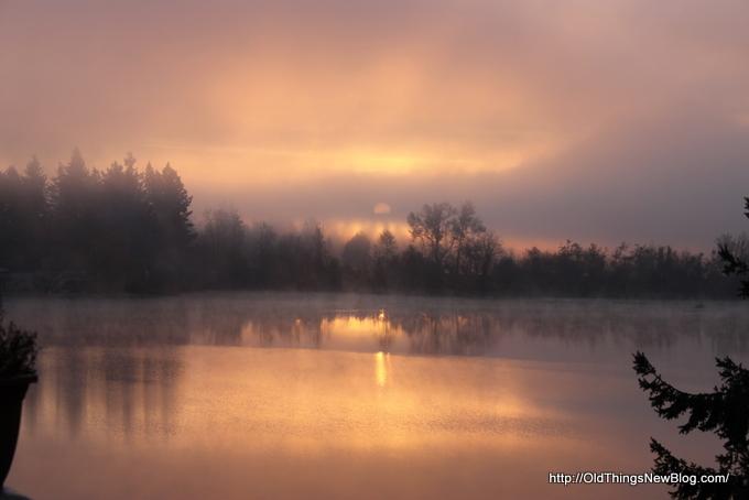 1-Foggy Sunrise on Pattison lake 002