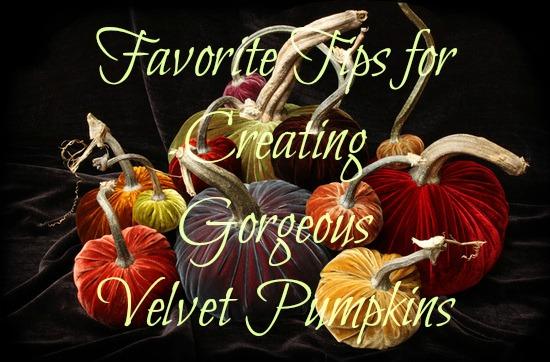 Creating Gorgeous Velvet Pumpkins