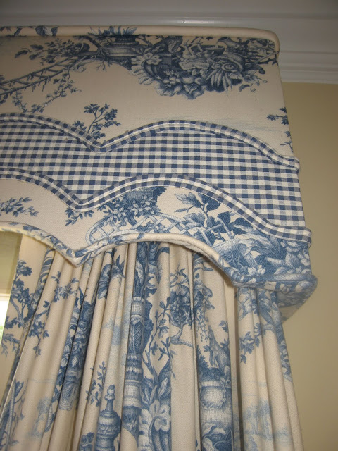 Blue Toile Drapes