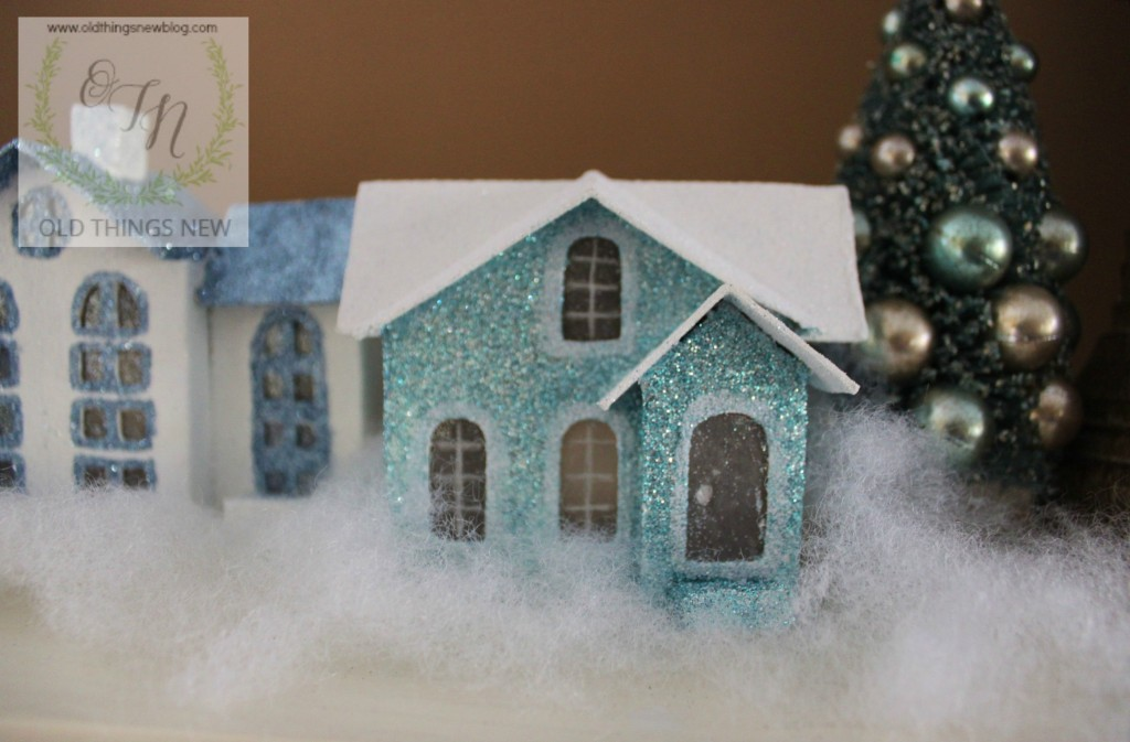 Creating a Glittery Christmas Village – Old Things New